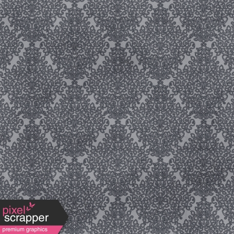 Berlin Damask Paper - Gray