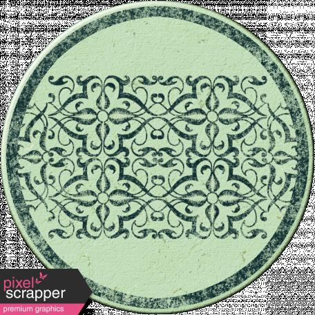 Cambodia Chipboard Circle - Blue