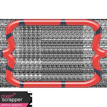 Cheer Bracket Frame - Red & Black