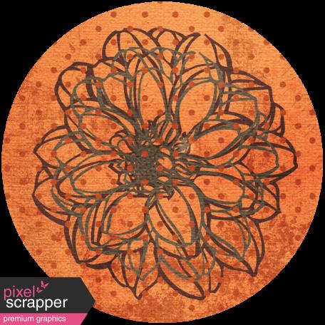 Discover Circle - Floral Orange