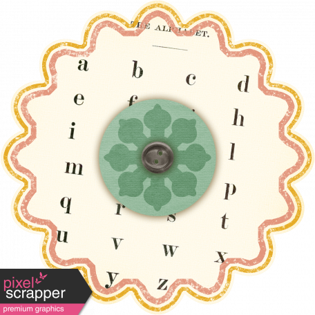 Discover Flower - Scallop Cream & Text
