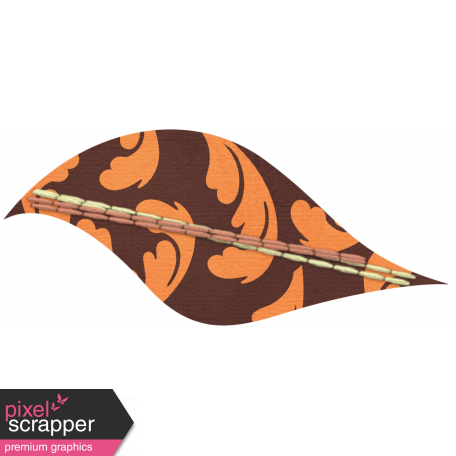 Discover Leaf Small - Brown & Orange