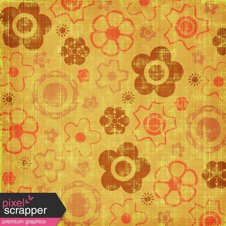 Floral Paper - Orange