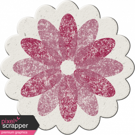 Malaysia Chipboard Flower 01 - Purple