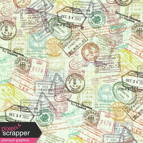 Passport Stamp Paper