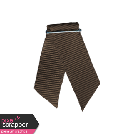 Laundry Ribbon Folded - Brown