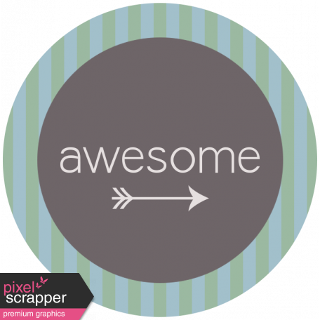 DSF Aug 2013 Blog Train Mini Kit - Awesome Wordart
