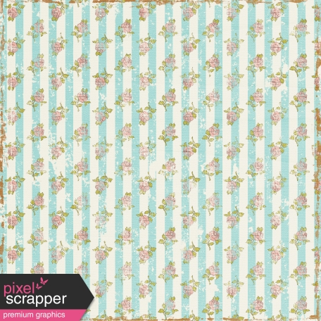 Pretty Things Striped Floral Paper