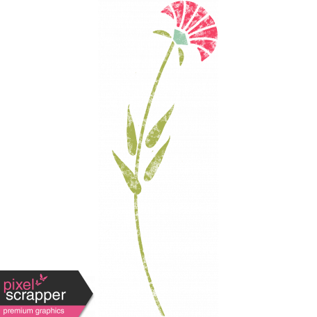 Flower Illustration 019 -Pink