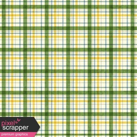 Plaid 21 Paper - Green, White & Yellow