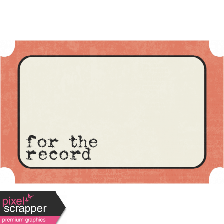 Family Tag - For The Record