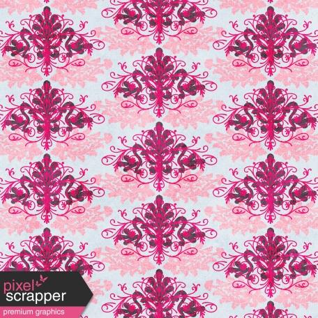 Damask 13 Paper - Blue & Pink