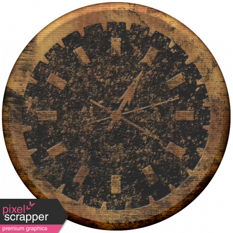 Clock - Tan Grunge