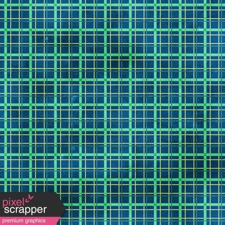 Plaid 23 Paper - Blue & Teal