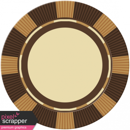 Poker Game Coin - Brown