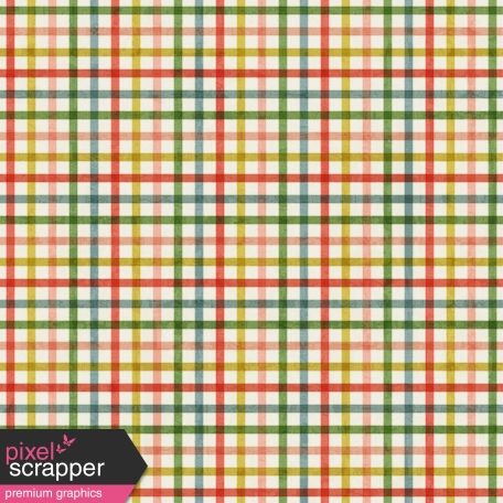 Outer Space Multicolor Plaid Paper