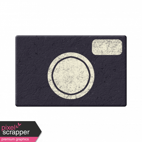 Navy Chipboard Camera