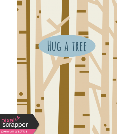 Scout Journal Card - Hug A Tree