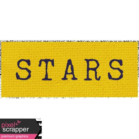Khaki Scouts Label - Stars