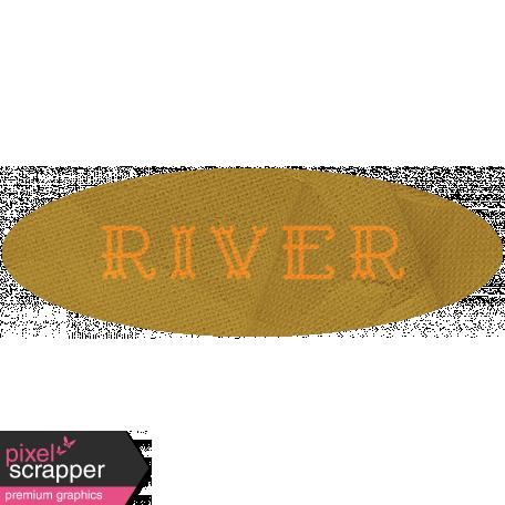 Khaki Scouts Label - River