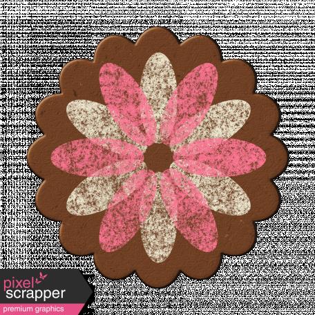 Pink/White Chipboard Flower