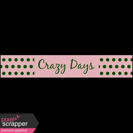 Mix & Match Label - Crazy Days