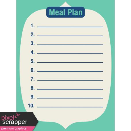 Thanksgiving Journal Card - Meal Plan