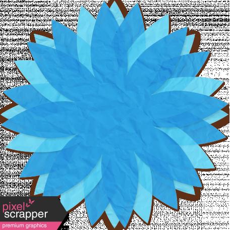 Brighten Up Paper Flower - Blue