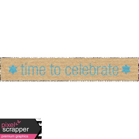 Hanukkah Label - Time To Celebrate