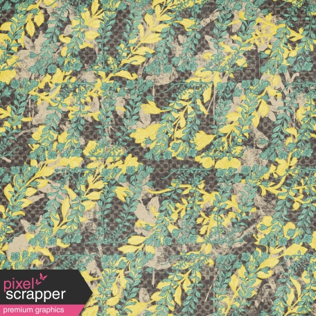 Floral 41 Paper - Teal & Gray