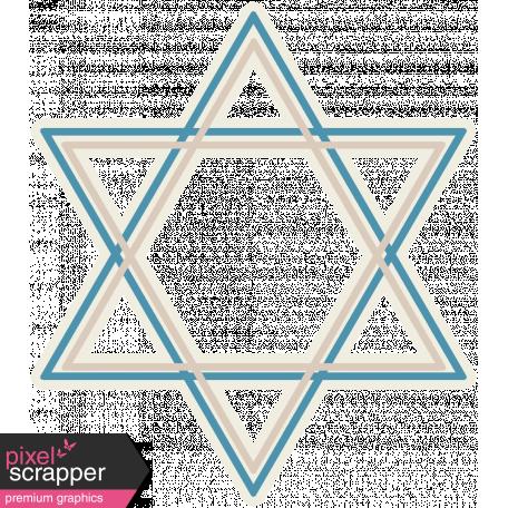Hanukkah Star - Blue & Tan