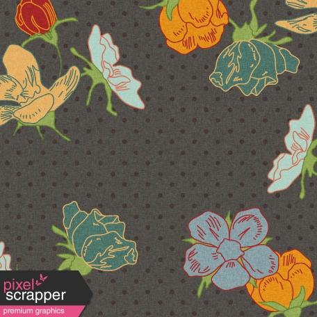 Floral 40 Paper - Gray & Colors