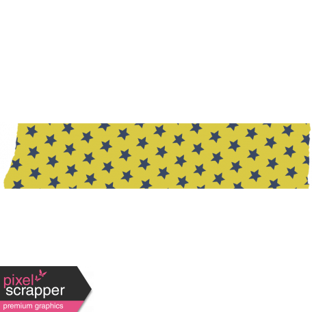 Like This Tape - Yellow With Blue Stars