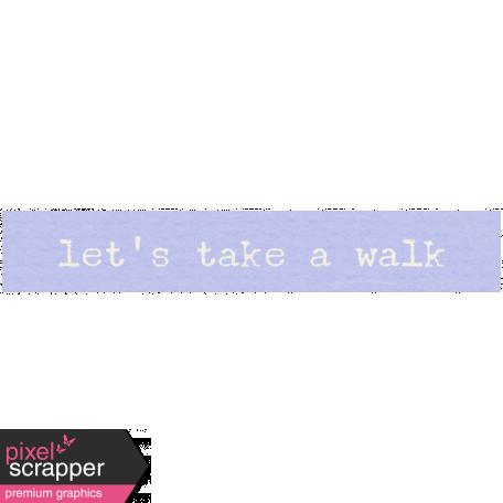 Lake District Label - Let's Take A Walk