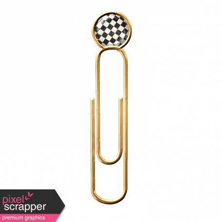 Gold Paper Clip with Paper