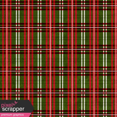 Winter Plaid - Green & Red Plaid Paper