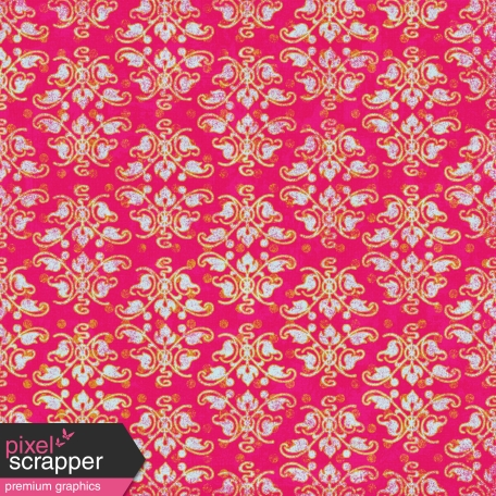 Damask Paper - Pink & Gold