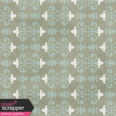 Damask Paper 2 - Gray & Blue