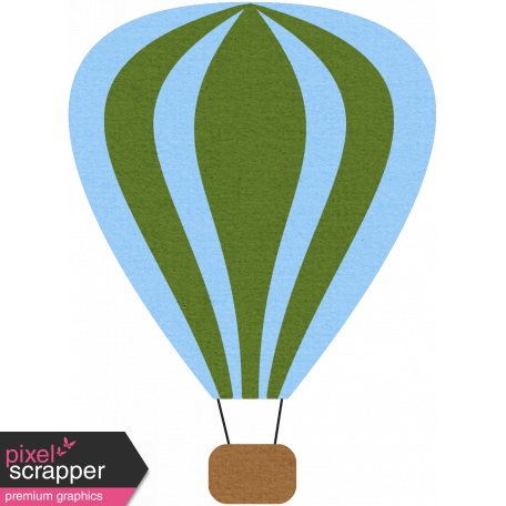 Hot Air Balloon - Green Balloon