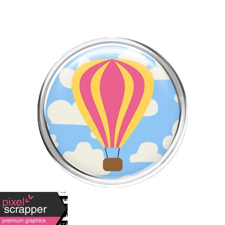 Hot Air Balloon - Balloon Brad - Pink & Yellow