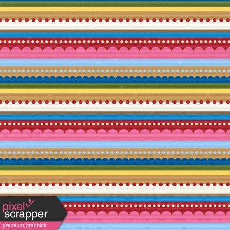 Hot Air Balloon - Striped Paper