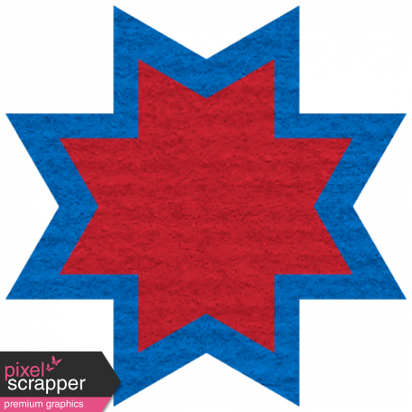 Egypt Scrap - Ohio Star Red & Blue
