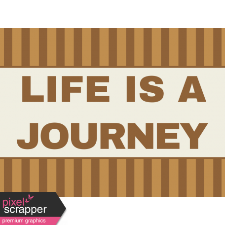 Egypt - Life Is A Journey Journal Card