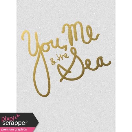 You Me & The Sea - Golden Ocean Journal Card