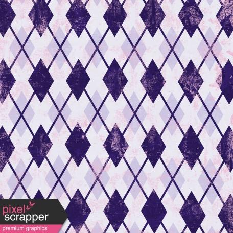 Argyle 18 Paper - Purple