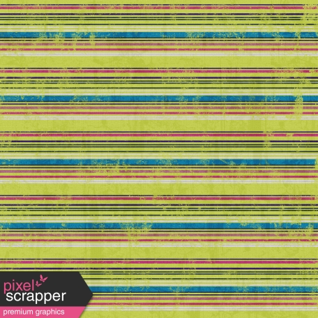 Stripes 66 Paper - Green & Pink