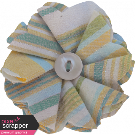 Coastal Fabric Flower - Petals & Button