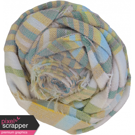 Coastal Fabric Flower - Stripes