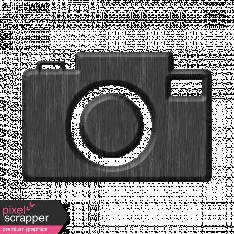 Gray Chipboard Camera