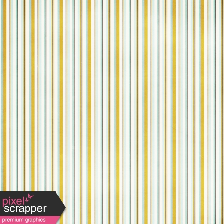 Stripes 93 Paper - White, Teal & Yellow